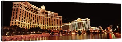 Hotel lit up at night, Bellagio Resort And Casino, The Strip, Las Vegas, Nevada, USA #2 Canvas Art Print