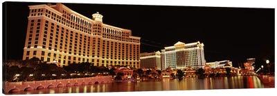 Hotel lit up at night, Bellagio Resort And Casino, The Strip, Las Vegas, Nevada, USA #2 Canvas Print #PIM8563