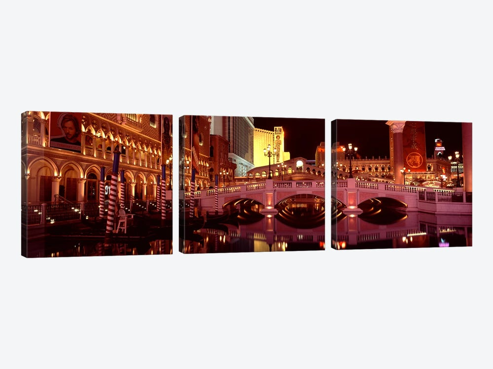 Arch bridge across a lake, Las Vegas, Nevada, USA by Panoramic Images 3-piece Canvas Wall Art