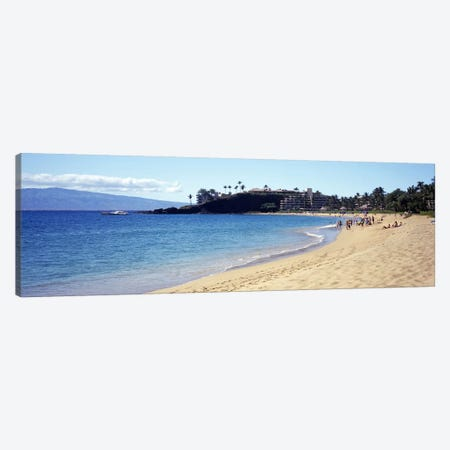 Coastal Landscape, Black Rock Beach, Maui, Hawai'i, USA Canvas Print #PIM8575} by Panoramic Images Canvas Art