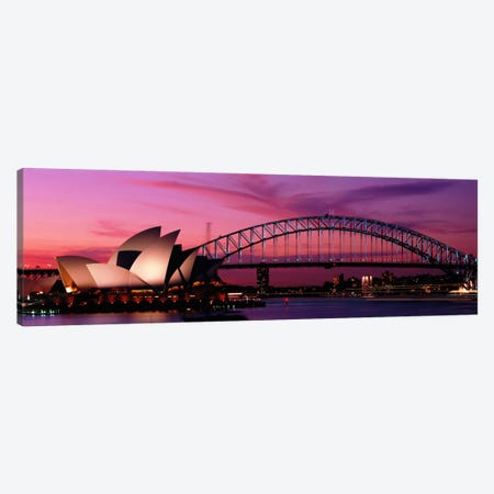 Australia, Sydney, sunset Canvas Print #PIM858} by Panoramic Images Canvas Art Print