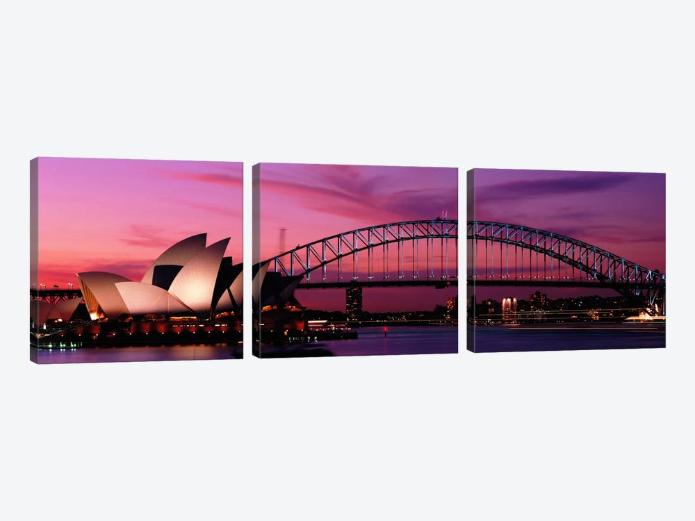 Australia, Sydney, sunset by Panoramic Images 3-piece Canvas Art
