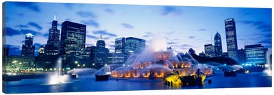 Buckingham Fountain At Twilight, Grant Park, Chicago, Illinois, USA Canvas Print #PIM860