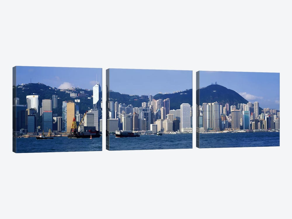 Hong Kong China by Panoramic Images 3-piece Canvas Artwork