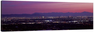 Fuchsia Sunset, Phoenix, Maricopa County, Arizona, USA Canvas Art Print