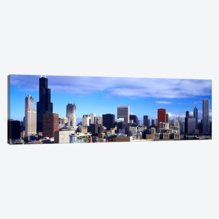 Skyscrapers in a city, Sears Tower, Chicago, Cook County, Illinois, USA Canvas Print #PIM862} by Panoramic Images Canvas Wall Art