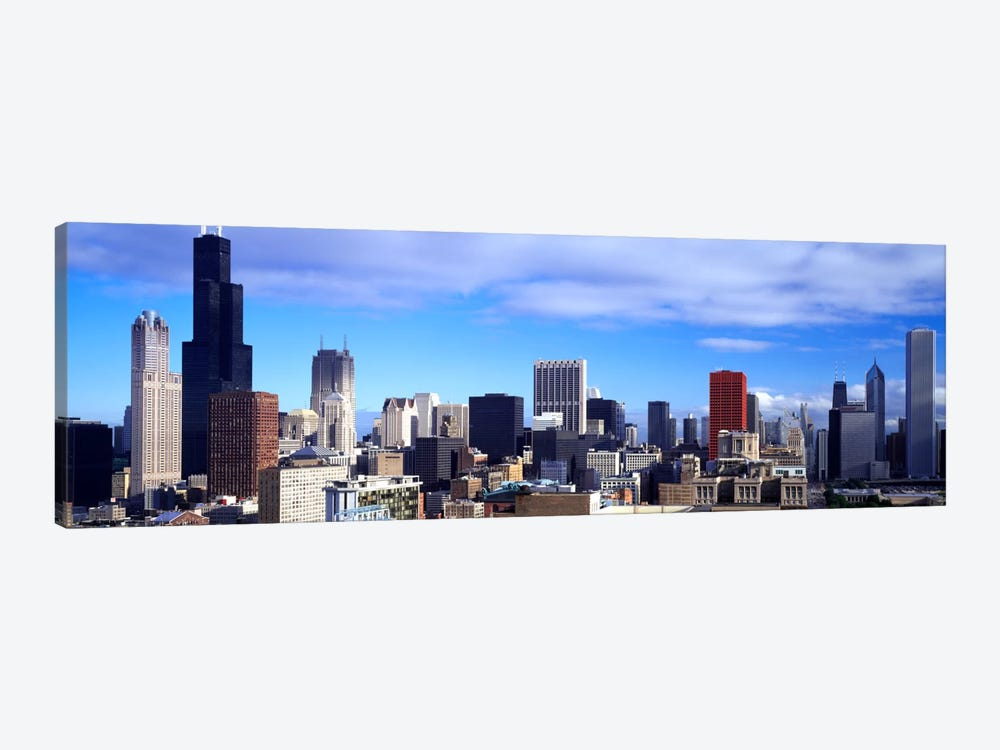 Skyscrapers in a city, Sears Tower, Chicago, Cook County, Illinois, USA by Panoramic Images 1-piece Canvas Print