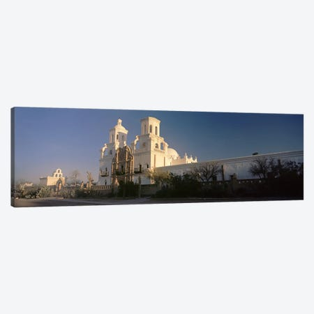 Low angle view of a church, Mission San Xavier Del Bac, Tucson, Arizona, USA Canvas Print #PIM8634} by Panoramic Images Art Print