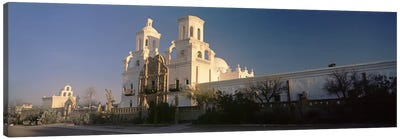 Low angle view of a church, Mission San Xavier Del Bac, Tucson, Arizona, USA Canvas Art Print