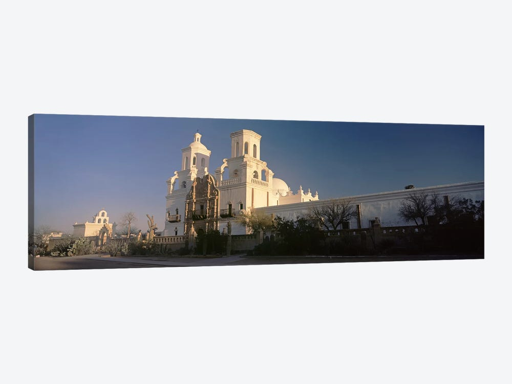 Low angle view of a church, Mission San Xavier Del Bac, Tucson, Arizona, USA by Panoramic Images 1-piece Canvas Artwork