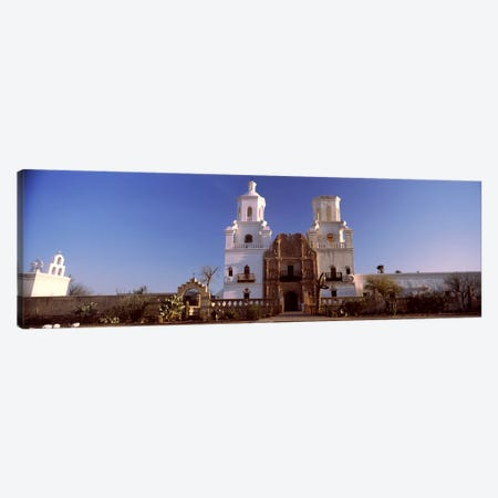 Low angle view of a church, Mission San Xavier Del Bac, Tucson, Arizona, USA #2 Canvas Print #PIM8635} by Panoramic Images Canvas Print
