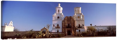 Low angle view of a church, Mission San Xavier Del Bac, Tucson, Arizona, USA #2 Canvas Art Print