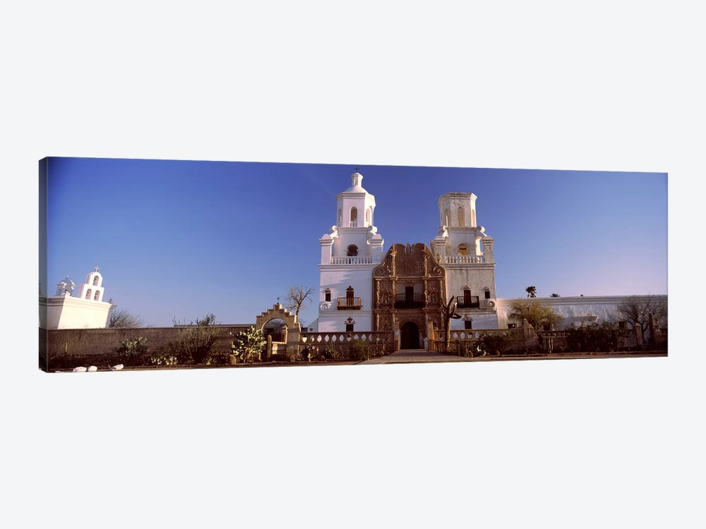 Low angle view of a church, Mission San Xavier Del Bac, Tucson, Arizona, USA #2 by Panoramic Images 1-piece Canvas Art Print