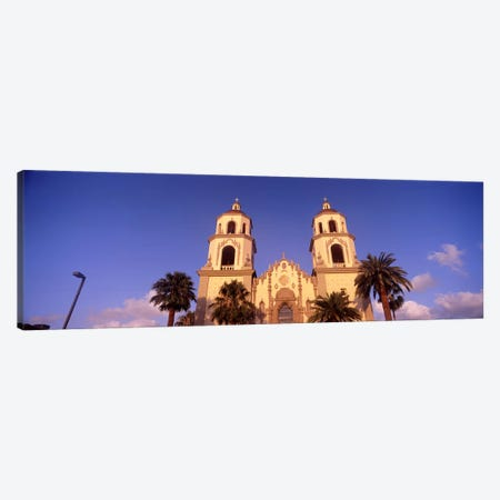 Low angle view of a cathedral, St. Augustine Cathedral, Tucson, Arizona, USA Canvas Print #PIM8636} by Panoramic Images Canvas Print
