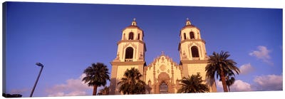 Low angle view of a cathedral, St. Augustine Cathedral, Tucson, Arizona, USA Canvas Art Print