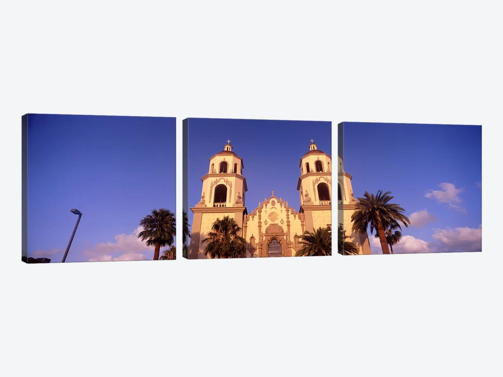 Low angle view of a cathedral, St. Augustine Cathedral, Tucson, Arizona, USA by Panoramic Images 3-piece Canvas Wall Art