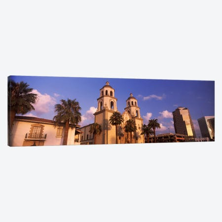 Low angle view of a cathedralSt. Augustine Cathedral, Tucson, Arizona, USA Canvas Print #PIM8637} by Panoramic Images Art Print