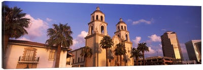 Low angle view of a cathedralSt. Augustine Cathedral, Tucson, Arizona, USA Canvas Art Print