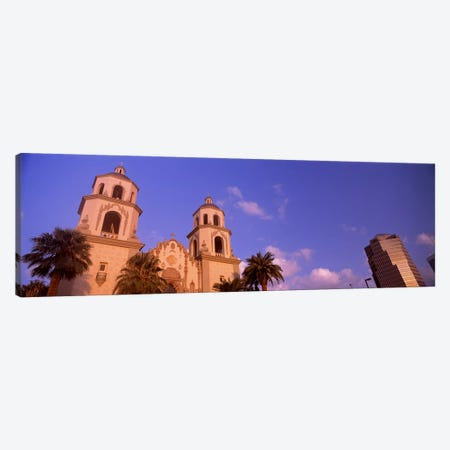 Low angle view of a cathedralSt. Augustine Cathedral, Tucson, Arizona, USA Canvas Print #PIM8638} by Panoramic Images Canvas Wall Art