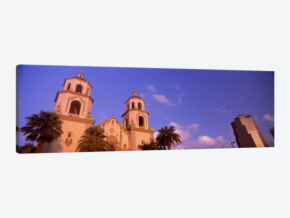 Low angle view of a cathedralSt. Augustine Cathedral, Tucson, Arizona, USA by Panoramic Images 1-piece Canvas Wall Art