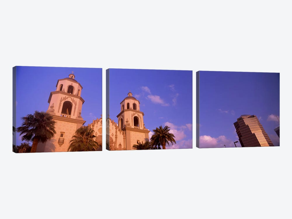 Low angle view of a cathedralSt. Augustine Cathedral, Tucson, Arizona, USA by Panoramic Images 3-piece Canvas Wall Art