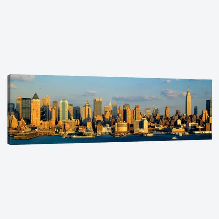 Hudson River, City Skyline, NYC, New York City, New York State, USA Canvas Print #PIM863} by Panoramic Images Canvas Artwork