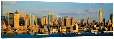 Hudson River, City Skyline, NYC, New York City, New York State, USA Canvas Art Print