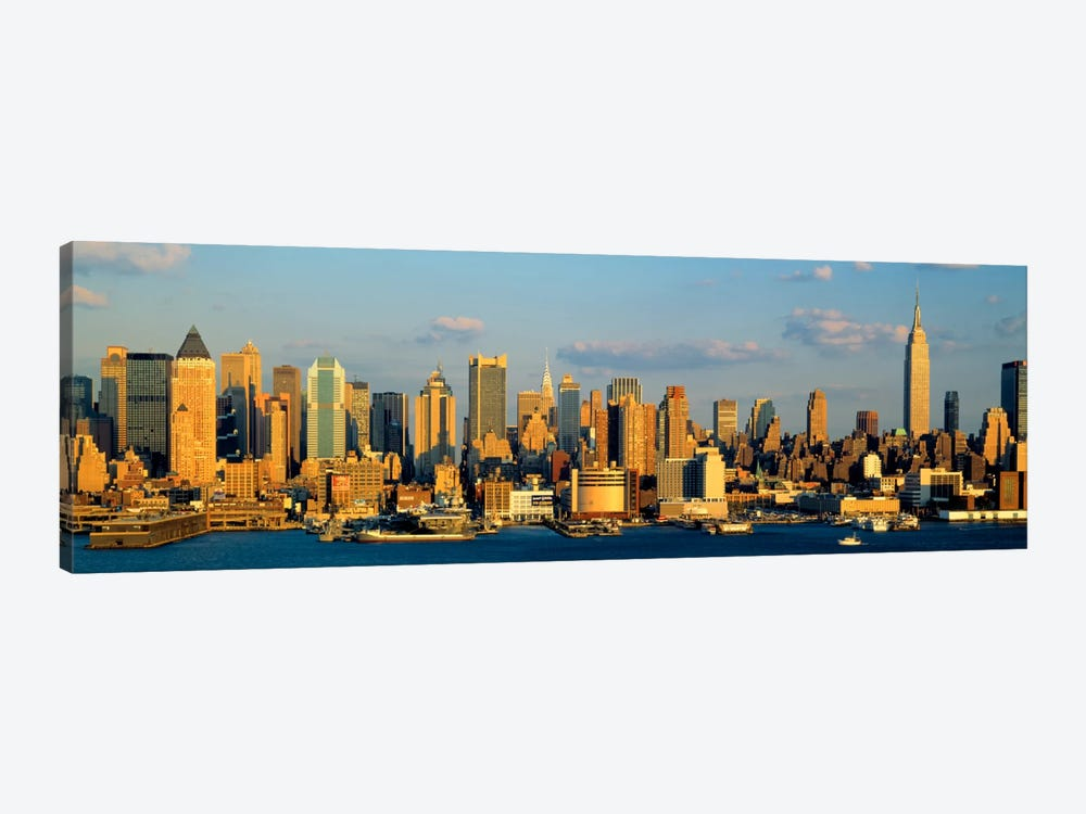 Hudson River, City Skyline, NYC, New York City, New York State, USA by Panoramic Images 1-piece Canvas Wall Art