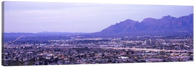 Aerial view of a city, Tucson, Pima County, Arizona, USA Canvas Art Print
