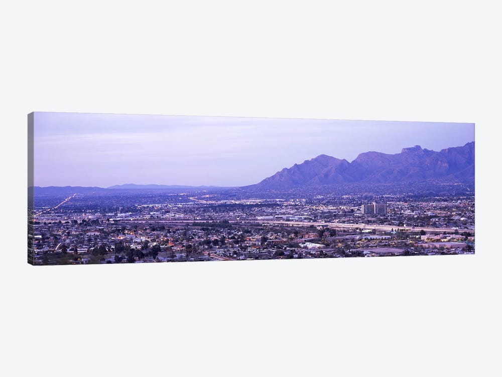 Aerial view of a city, Tucson, Pima County, Arizona, USA by Panoramic Images 1-piece Canvas Wall Art