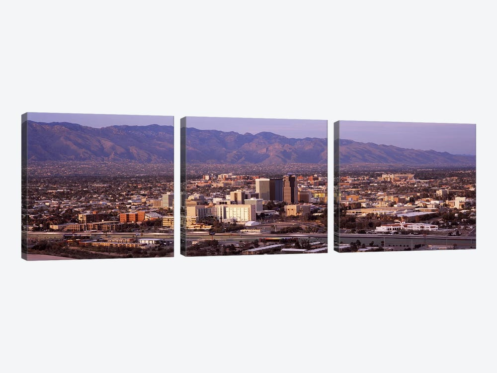 Aerial view of a cityTucson, Pima County, Arizona, USA 3-piece Canvas Art Print