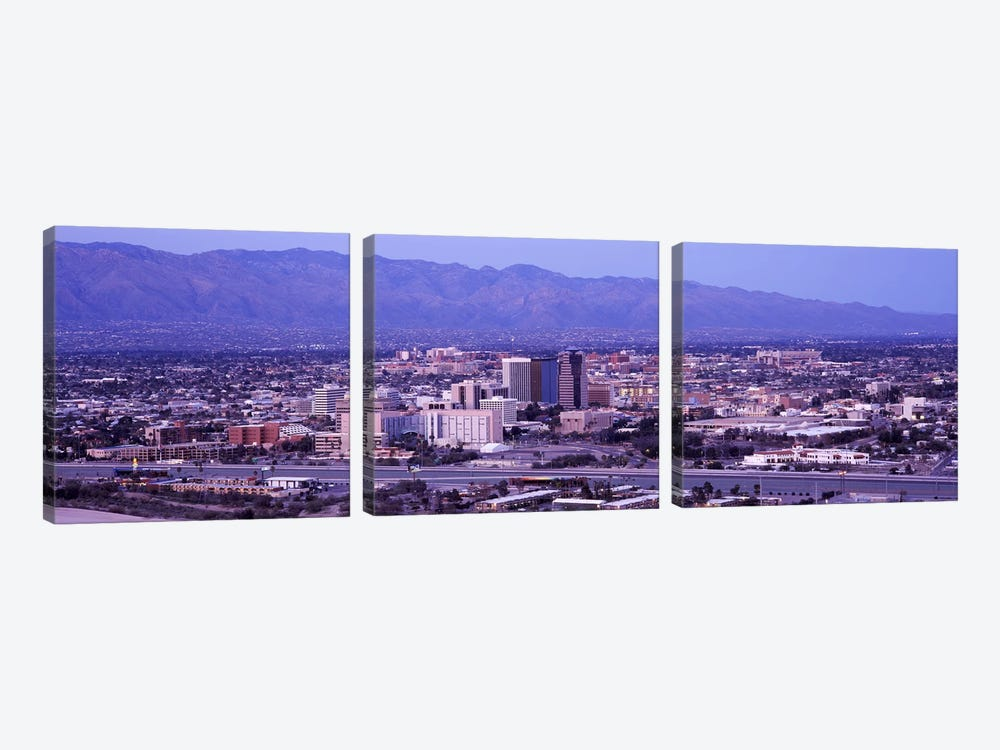 Aerial view of a cityTucson, Pima County, Arizona, USA by Panoramic Images 3-piece Canvas Wall Art