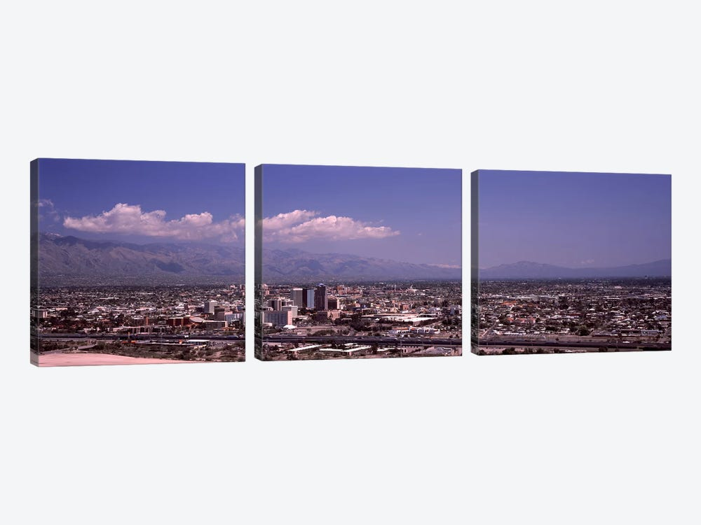 Aerial view of a cityTucson, Pima County, Arizona, USA by Panoramic Images 3-piece Art Print