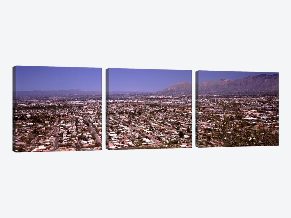 Aerial view of a cityTucson, Pima County, Arizona, USA by Panoramic Images 3-piece Canvas Artwork