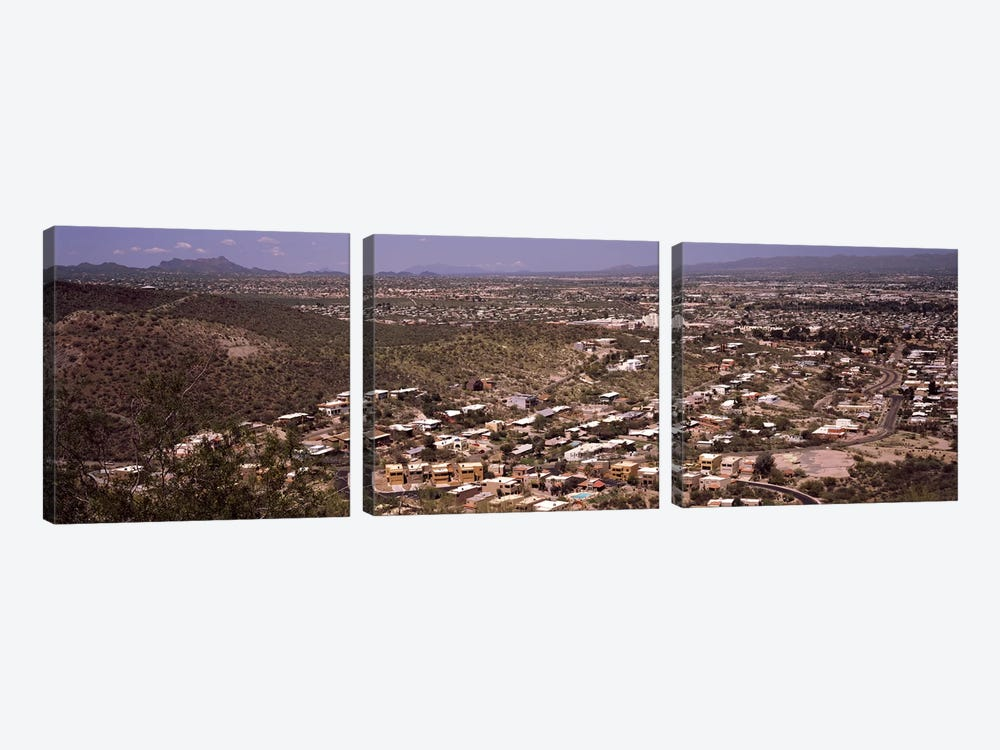Aerial view of a city, Tucson, Pima County, Arizona, USA #2 by Panoramic Images 3-piece Canvas Print