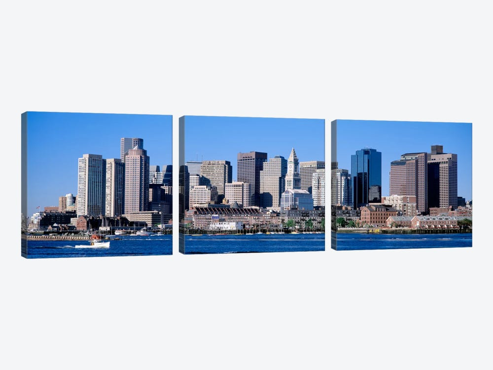 Skyline, Cityscape, Boston, Massachusetts, USA,  by Panoramic Images 3-piece Canvas Artwork