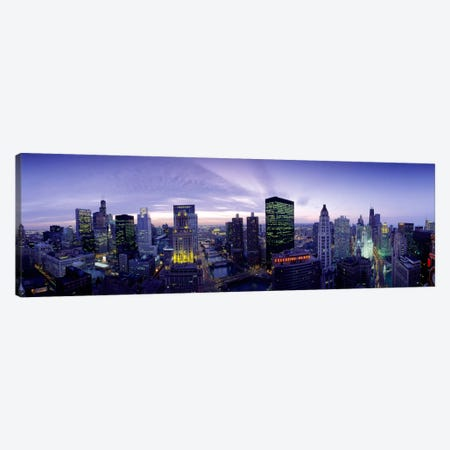 Skyscrapers, Chicago, Illinois, USA Canvas Print #PIM866} by Panoramic Images Art Print