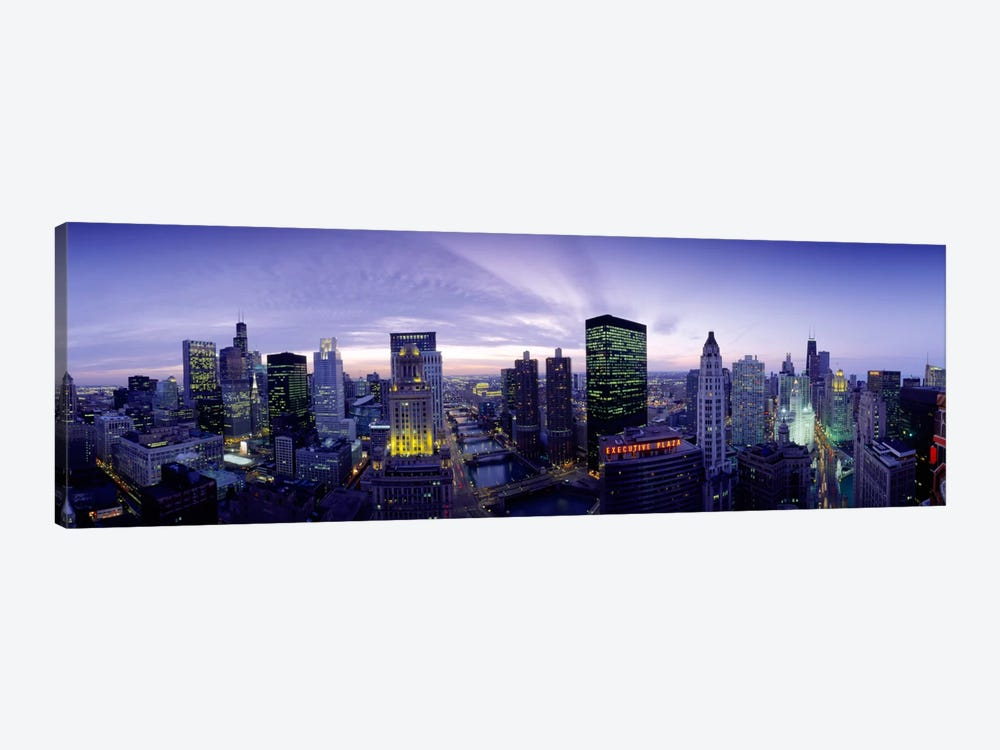 Skyscrapers, Chicago, Illinois, USA by Panoramic Images 1-piece Canvas Print