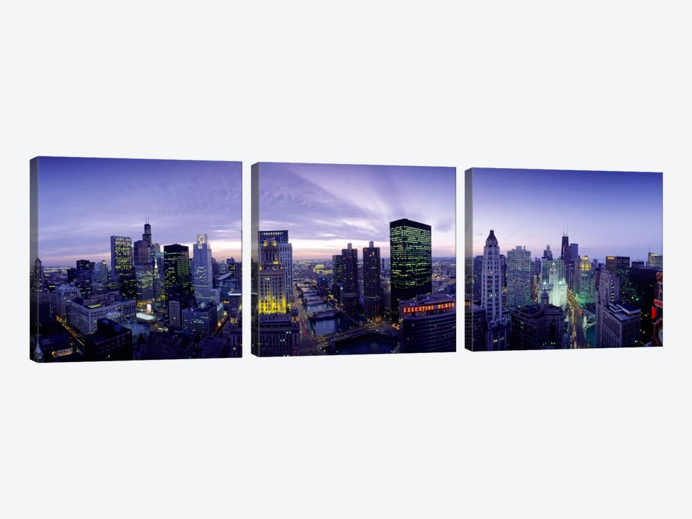 Skyscrapers, Chicago, Illinois, USA by Panoramic Images 3-piece Canvas Print
