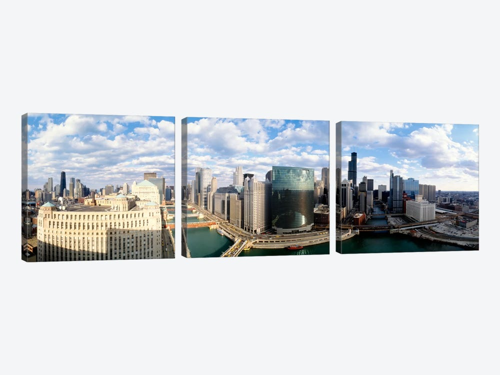Cityscape Chicago IL USA #2 by Panoramic Images 3-piece Canvas Wall Art