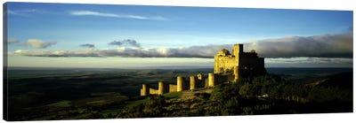 Castle on a hill, Loarre Castle, Huesca, Aragon, Spain Canvas Art Print