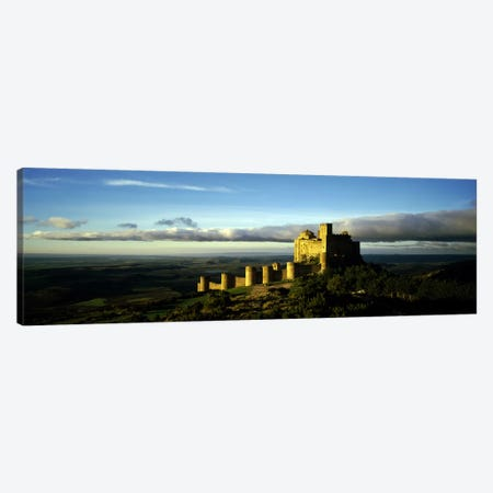 Castle on a hill, Loarre Castle, Huesca, Aragon, Spain Canvas Print #PIM8683} by Panoramic Images Canvas Print