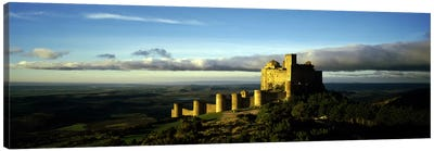 Castle on a hill, Loarre Castle, Huesca, Aragon, Spain Canvas Art Print