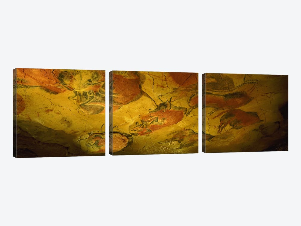Parietal Paintings, Cave Of Altamira, Near Santillana del Mar, Cantabria, Spain by Panoramic Images 3-piece Canvas Art Print
