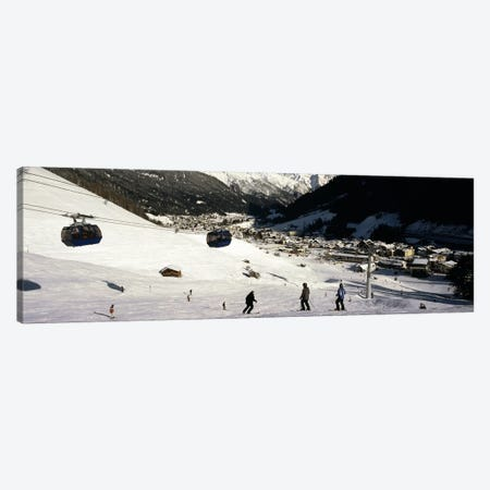 Ski lift in a ski resort, Sankt Anton am Arlberg, Tyrol, Austria Canvas Print #PIM8685} by Panoramic Images Canvas Art