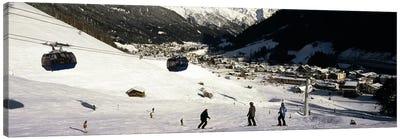 Ski lift in a ski resort, Sankt Anton am Arlberg, Tyrol, Austria Canvas Print #PIM8685