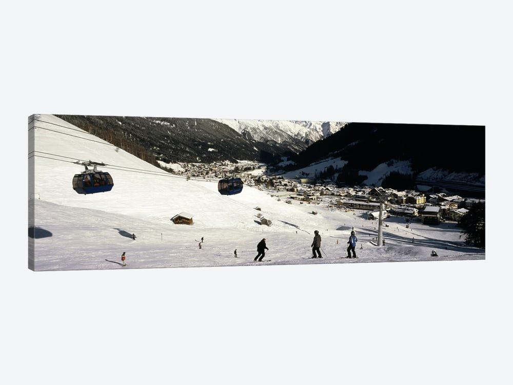 Ski lift in a ski resort, Sankt Anton am Arlberg, Tyrol, Austria by Panoramic Images 1-piece Canvas Artwork