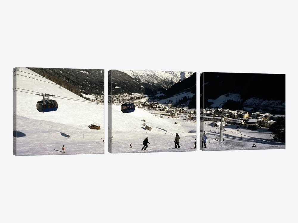 Ski lift in a ski resort, Sankt Anton am Arlberg, Tyrol, Austria by Panoramic Images 3-piece Canvas Artwork