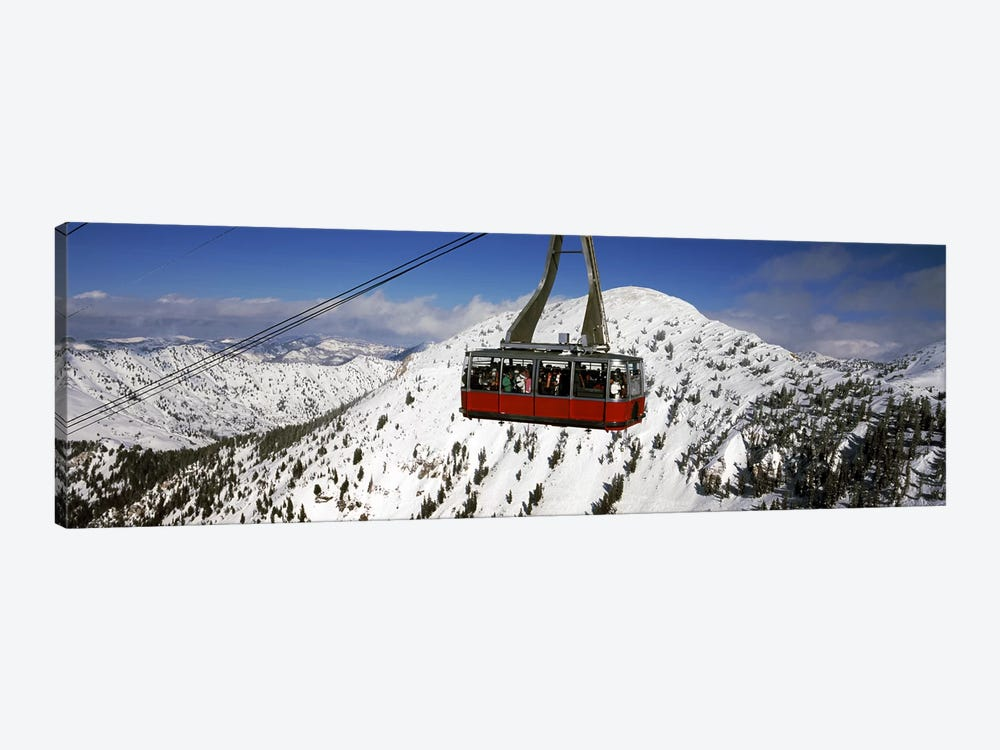 Overhead cable car in a ski resortSnowbird Ski Resort, Utah, USA by Panoramic Images 1-piece Canvas Print