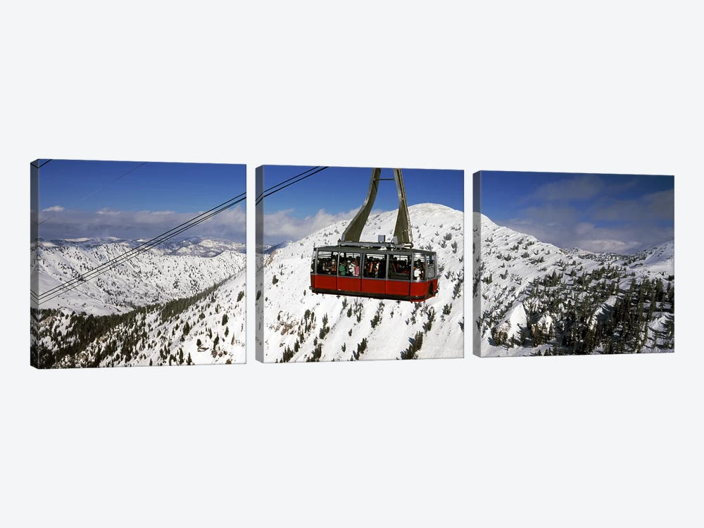 Overhead cable car in a ski resortSnowbird Ski Resort, Utah, USA by Panoramic Images 3-piece Canvas Art Print